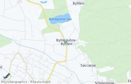 Stadtplan Byhleguhre-Byhlen