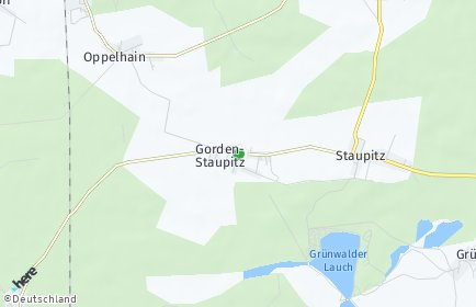 Stadtplan Gorden-Staupitz