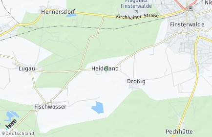 Stadtplan Heideland (Brandenburg)