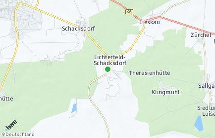 Stadtplan Lichterfeld-Schacksdorf