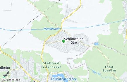 Stadtplan Schönwalde-Glien