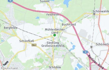 Stadtplan Mühlenbecker Land