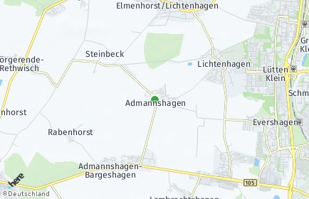 Stadtplan Admannshagen-Bargeshagen