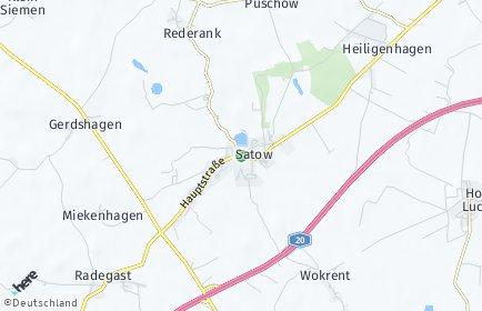 Stadtplan Satow OT Reinshagen
