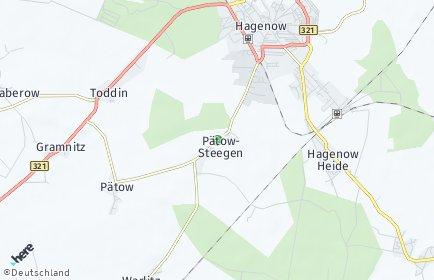 Stadtplan Pätow-Steegen