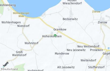 Stadtplan Hohenkirchen (Mecklenburg)