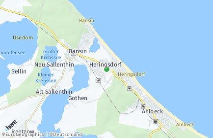 Stadtplan Heringsdorf (Ostseebad)