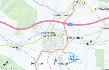 Stadtplan Leinefelde-Worbis