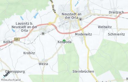 Stadtplan Kospoda