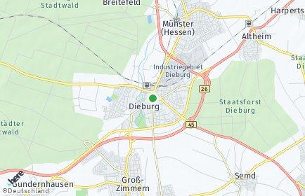 Stadtplan Darmstadt-Dieburg