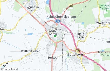 Stadtplan Groß-Gerau