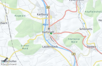 Stadtplan Main-Spessart