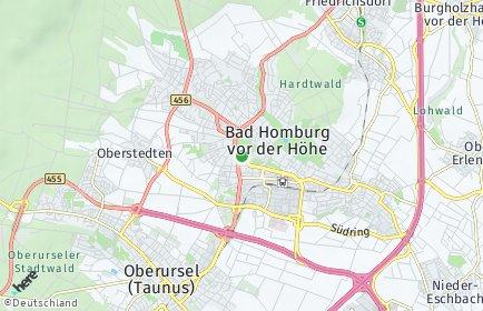 Stadtplan Hochtaunuskreis