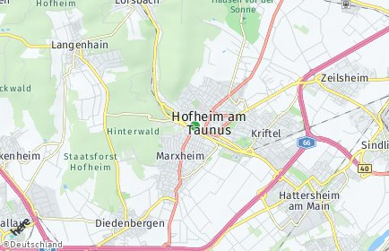 Stadtplan Main-Taunus-Kreis