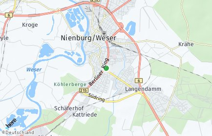 Stadtplan Nienburg (Weser)
