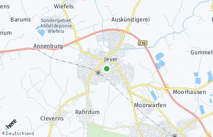 Stadtplan Friesland