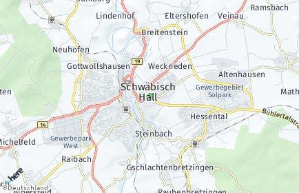 Stadtplan Schwäbisch Hall