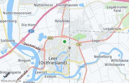 Stadtplan Leer