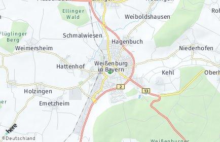 Stadtplan Weißenburg-Gunzenhausen
