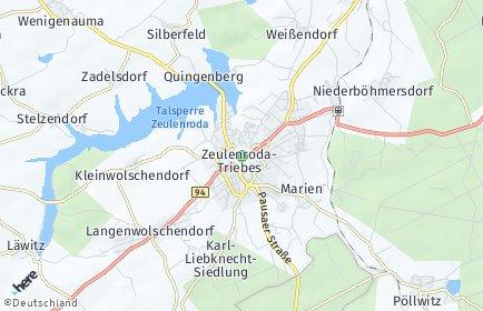 Stadtplan Zeulenroda-Triebes