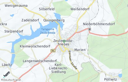 Stadtplan Zeulenroda-Triebes OT Niederböhmersdorf