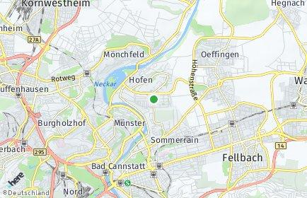 Stadtplan Stuttgart OT Steinhaldenfeld