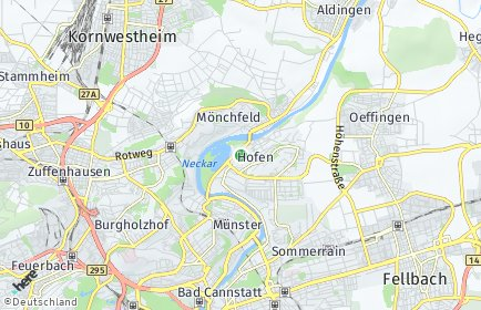 Stadtplan Stuttgart OT Hofen