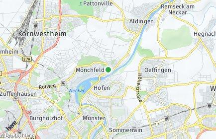 Stadtplan Stuttgart OT Mühlhausen