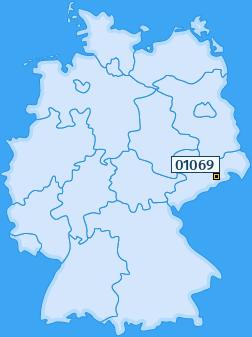 PLZ 01069 Deutschland