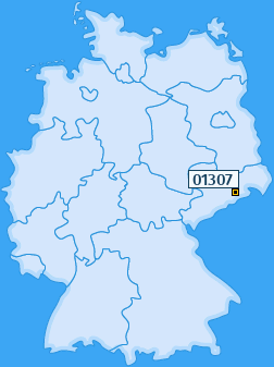 PLZ 01307 Deutschland
