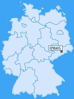 PLZ 01665 Deutschland