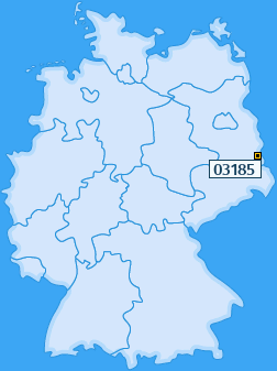 PLZ 03185 Deutschland