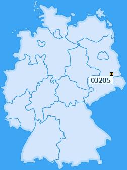 PLZ 03205 Deutschland