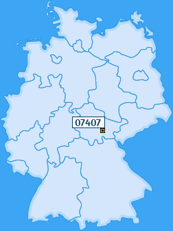 PLZ 07407 Deutschland