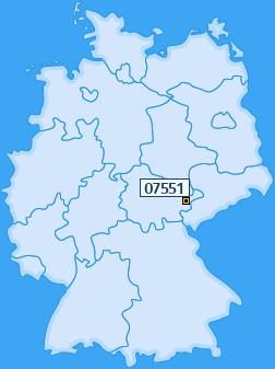 PLZ 07551 Deutschland