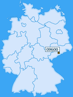 PLZ 09600 Deutschland
