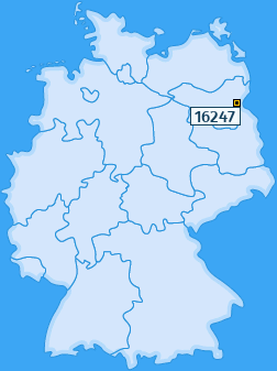 PLZ 16247 Deutschland