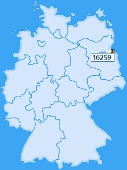 PLZ 16259 Deutschland