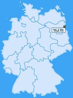 PLZ 16278 Deutschland