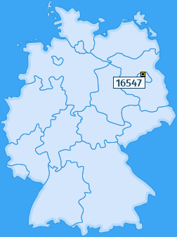PLZ 16547 Deutschland