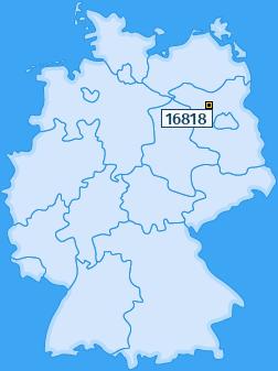PLZ 16818 Deutschland