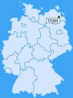 PLZ 17089 Deutschland