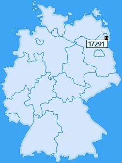 PLZ 17291 Deutschland