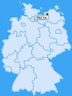 PLZ 1823 Deutschland