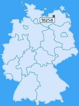 PLZ 18258 Deutschland