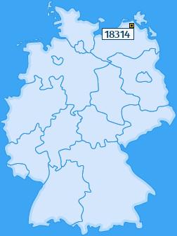 PLZ 18314 Deutschland