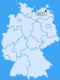 PLZ 18513 Deutschland