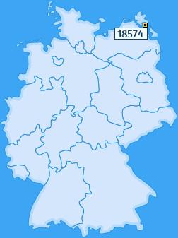 PLZ 18574 Deutschland