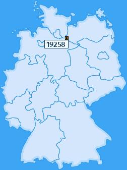 PLZ 19258 Deutschland