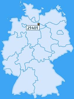 PLZ 21401 Deutschland